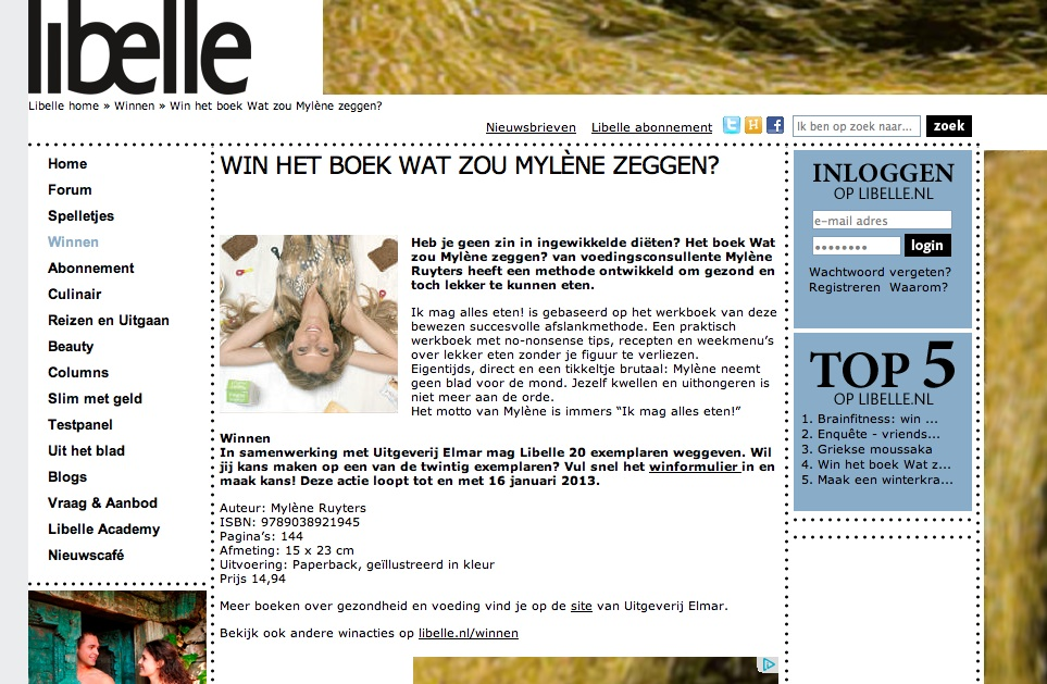 Mylene Ruyters in de Libelle   week 3 2013