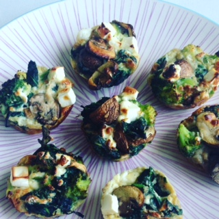 spinazie feta muffin